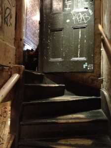 The staircase leading to the upper storey of The White Hart, believed to be the pub visited by Martha Turner just before she was murdered by Jack the Ripper.  A few more secret steps?