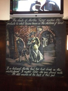 Jack the Ripper - First Victim Martha Tabram (Turner) found at the back of The White Hart pub Whitechapel High Street in the East End of London