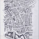 A Secret Step – Book End Paper showing site map of Jack the Ripper victims