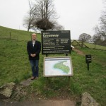 Ian Parson - Author of 'A Secret Step' at Greenway, holiday home of Agatha Christie