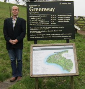 Ian Parson - Author of A SECRET STEP at Greenway, the holiday home of Agatha Christie