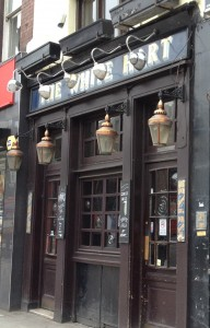 A Secret Step - The location of book launch Wednesday 7th August 2013 The White Hart, 89 Whitechapel High Street, London E1 7RA