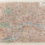 Map of Victorian London at the time of Jack the Ripper murders