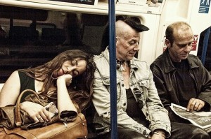Ian Parson, James Lucas, Robot girl on the Northern Line. Picture by Jon Hardy