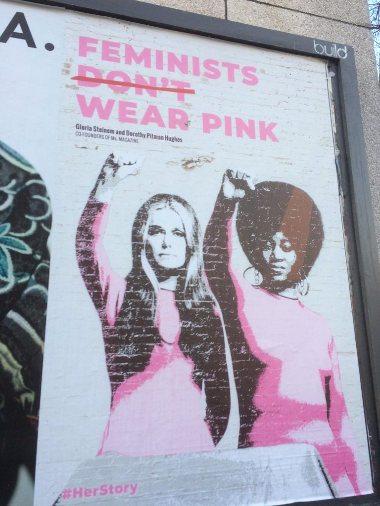 The rights of women have been hard fought every step of the way. Keyboard warriors get stuck in an echo chamber, activists get stuck in. photo: Ian Parson