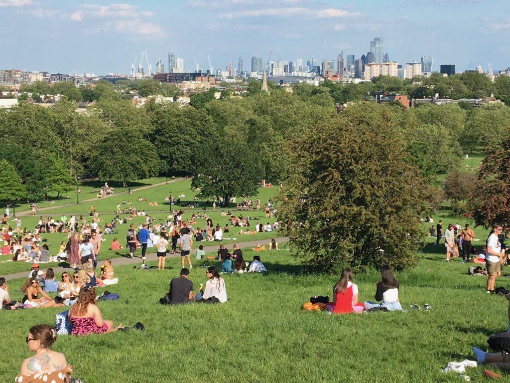 Primrose Hill, London is always going to be popular when the sun shines.